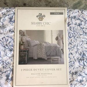 Brand New Twin SzShabby Chic 2 pc Duvet Cover Set